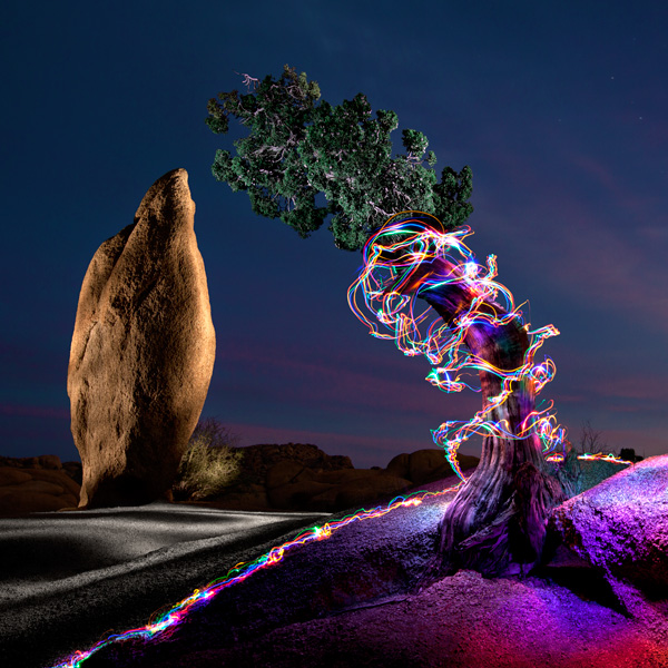 Balanced Rock and Juniper (light work by me, Ben Willmore of digitalmastery.com, and Karen Nace of karennace.com)