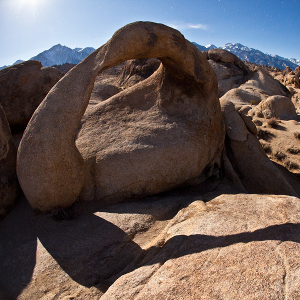 Fisheye, Alabama Hills by Moonlight